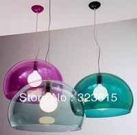 Modern Red Green Blue Purple Clear Yellow Acryl Fly Pendant Lamp Living Room Dinning Room Light Dia 40cm