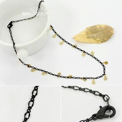Yiwu accessories production necklace manufacturers brief fashion all-match wafer accessories necklace m730(China (Mainland))