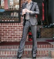 Men's clothing suit slim suit set groom wedding suits dress suit commercial male