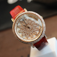 Turned the corner women's watch hyperspeed fashion table rhinestone ladies watch