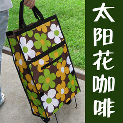 Folding wheel package promotional portable shopping cart shopping bag logo(China (Mainland))