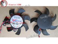 Free Shipping  Sapphire HD4350 4550 A5010L12S 2.6-2.6-2.0cm 5010 isosceles graphics card fan