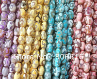 7*10MM 76Pcs/Pack Nature Agate Bead Loose Strands Oval Style Semi-precious Stone Jewelry Beads