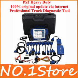 2013 Top 100% Original Update via Internet Multi-language Bluetooth PS2 Heavy Duty truck diagnostic tool ,PS2 diesel scanner(China (Mainland))