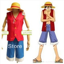NEW ONE PIECE Monkey D Luffy cosplay Sea poacher Anime Costume Halloween(China (Mainland))