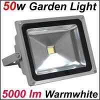 Free Shipping! 50W LED Garden Yard Flood Light 110-240V Waterproof 120 Degree Beam Warm White