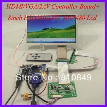 HDMI+VGA+2AV+Reversing LCD driver board+8inch 800*480 HSD080IDW1 Lcd panel