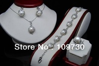 GW Lovey Natural Shape 10-11mm White Baroque Pearl Sets