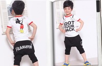 Free Shipping 2013 New Mickey mouse Boys T shirt Girls cartoon tees Mickey Cotton shirts short sleeve