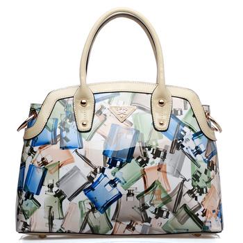 Free shipping For oppo   women's handbag 9767 - 1 fashion perfume print japanned leather handbag messenger bag 2013
