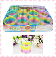 Magic Spring Toy Slinky Rainbow Color Party kid Children Classic Toys Plastic Gifts