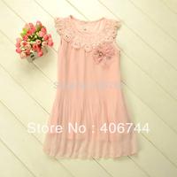 Girls first class dresses,flower dress for kids,5pcs per lot,LYY020