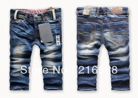 Free shipping Retail fashion cool cotton denim boys jeans brand children's long pants for 2-10 years kids girls pants 1pcs LJ145