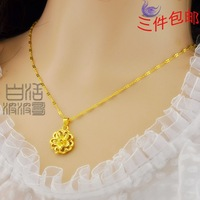 24k gold necklace Women handmade gold pure
