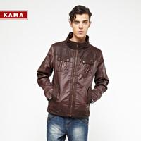 Kama kama male flight suit turn-down collar zipper jacket outerwear 2312712