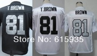 #81 Tim Brown Men's Authentic 1994 White Silver Number Throwback Football Jersey