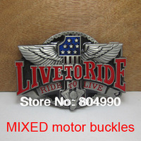Hot sale MOTOR belt buckles with 30 MIXED styles each item 2pcs FREE POST AIR MAIL SHIPPING