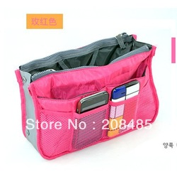 6Colors Promotions Lady's organizer bag handbag organizer travel bag organizer insert with pockets storage bags(China (Mainland))