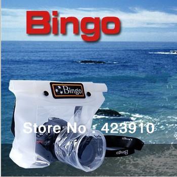 DSLR SLR Camera 20M Waterproof Anti Dust TPU Case Bag Soft Case Bags for Cannon Nikon Digital Camera Outdoor Swimming Camping