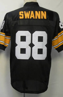 #88 Lynn Swann Men's Authentic 1975 Team Black Throwback Football Jersey