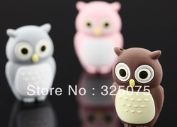 Novel lovely Owl USB Flash Pen Drive 4GB 8GB 16GB 32GB Free Shipping (Assorted Color)(China (Mainland))
