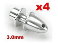 4 pcs RC Plane Airplane Spinner 3mm 3.0mm Shaft Motor Propeller Adaptor