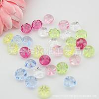 Free shipping 100pcs transparent color flower shape resin button 12mm (RB2C02x05) cute cartoon buttons DIY accessories buttons