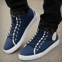 Spring and summer male high-top shoes male canvas shoes casual shoes skateboarding shoes