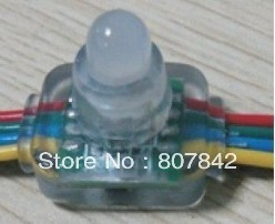 500pcs led RGB string 12mm WS2811 led string light led pixel module,IP68;DC5V input;full color led moudle with WS2811 IC