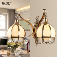 Fashion copper double slider wall lamp bedroom lamp living room lights aisle lights nb8402-02