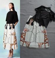free shipping 2013 spring summer US and UK elegant fashion brand print silk long dress women