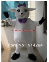 NEW STYLE LAMB SHEEP Mascot Costume FANCY DRESS   /free shipping  by FEDEX DHL