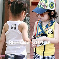 Children's clothing 2013 summer male female child child 100% T-shirt sleeveless cotton tank