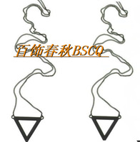 Fashion metal new arrival simple triangle necklace accessories 11  Free shipping