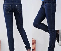 2013 new jeans trousers long dark color skinny pants for women tight pencil pants hot sale free shipping