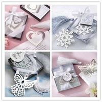 Whosale 10pcs/lot XMAS GIFT Snowflake Bookmark with Silver Finish Wedding / Bridal Shower Favors Free shipping