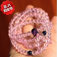 Star style pink crystal natural ice species beads crystal love stone peach blossom natural amethyst