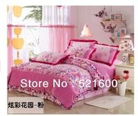 Free Shipping Royal Velvet, Flannel Velvet  Print 4 PCS Warming Floral/ Grass/ Leaves High Quality Bedding Sets