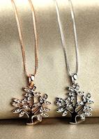 Small big tree chain short design chain rose gold accessories female
