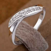 R159  Wholesale 925 silver ring, 925 silver fashion jewelry,  Austrian Crystal   Inlaid Blue Stone Ring Finger, Ring