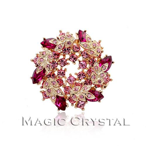 Italina accessories crystal brooch fashion ol elegant gift(China (Mainland))