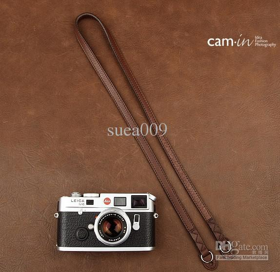 Cam-in Dark brown camera Leather Shoulder neck strap for Leica Panasonic CAM2821(China (Mainland))