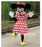 Crazy Sale Minnie Mouse Mascot Costume Fancy Dress Halloween+Foam Head   /free shipping  by FEDEX DHL