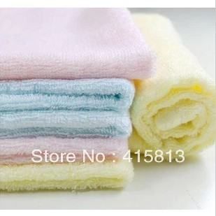 Free shipping 100% Bamboo fibre scarf  newborn child absorbent towels baby towel 5pcs/lot 26x26cm 25g