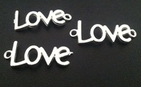 """2014 New Silver tone Arc Alphabet """"LOVE"""" Jewelry Connectors 15*40mm  Charm Bracelet Making   Free Shipping"""