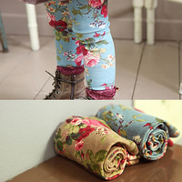 Female child baby 2013 spring children's clothing clothes legging 100% cotton trousers children's pants trousers