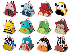Child school bag baby school bag graphic patterns cartoon school bag cartoon animal style school bag(China (Mainland))