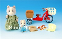 M'lele Novelty items  sylvanian families  Mother and child bicycle 1pc