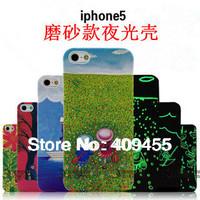 New jimmy cartoon comic graffiti pattern Luminous Hard Back Cover Case for iPhone 5 / iphone 5s