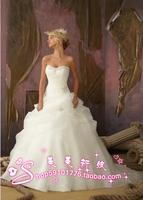 Organza tube top princess wedding dress 2012 wedding the bride wedding dress formal dress customize